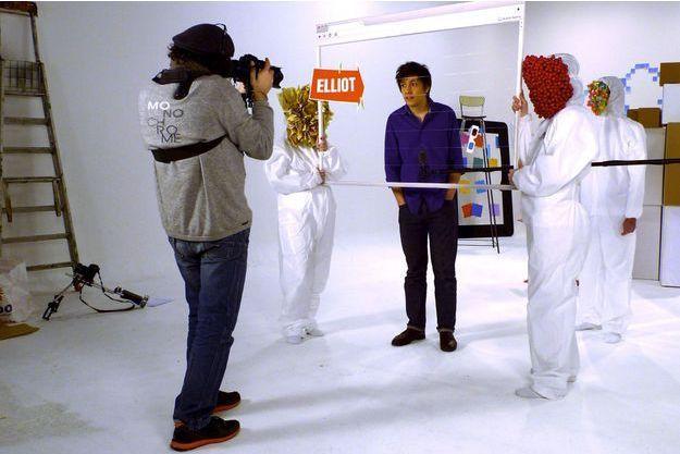 Elliot Lepers à 19 ans, lors du tournage de l'émission de Canal+ «L'oeil de Links».