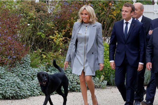 Brigitte et Emmanuel Macron ici à l'Elysée fin septembre.