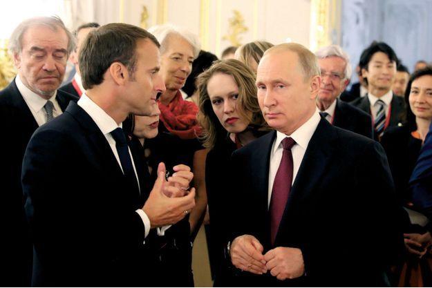 Le soir du dîner de gala organisé à Pouchkine, en Russie, le 25 mai, par le président russe.