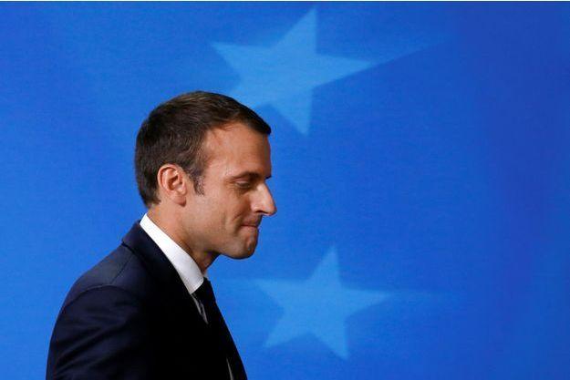 Emmanuel Macron est au Conseil européen à Bruxelles.