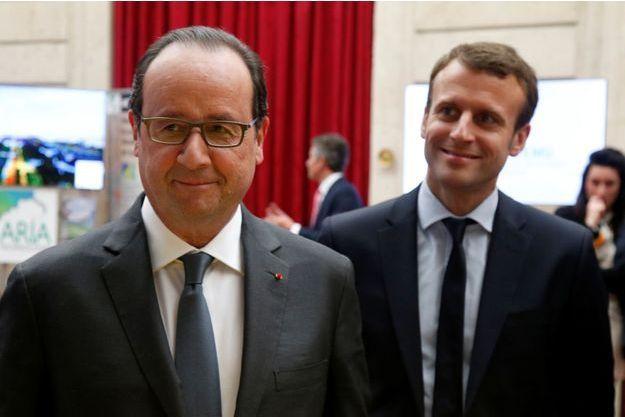 François Hollande et Emmanuel Macron à l'Elysée, en mai dernier.