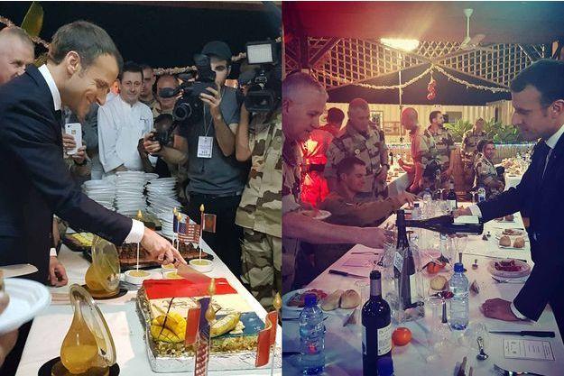 Emmanuel Macron a dîné avec 500 militaires au Niger.