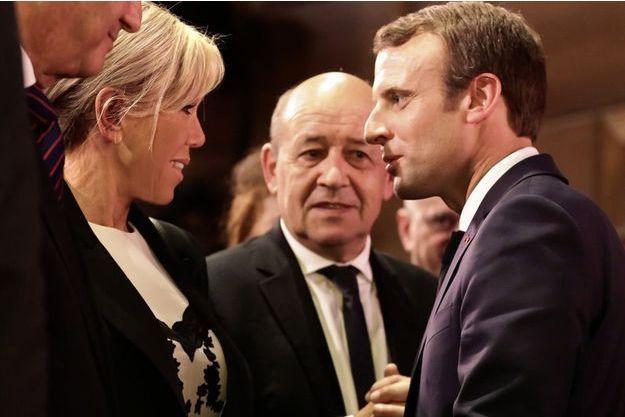 Emmanuel Macron et son épouse Brigitte, mardi à New York.