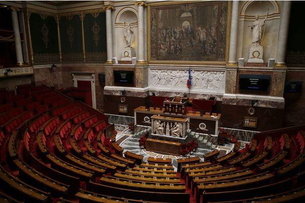 L'hémicycle de l'Assemblée nationale. De très nombreux députés En Marche! pourraient s'y installer après le second tour des législatives.
