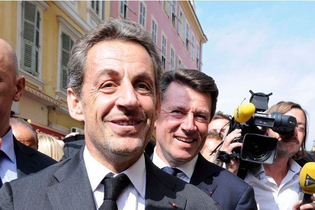 Christian Estrosi et Nicolas Sarkozy à Nice en 2013