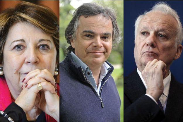 Corinne Lepage, Alexandre Jardin et Jean-Marie Cavada.
