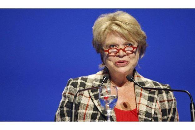 Eva Joly au congrès de la FNSEA, à Montpellier, jeudi dernier.