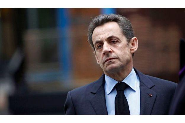 Nicolas Sarkozy, mardi au Grand Palais, à Paris.