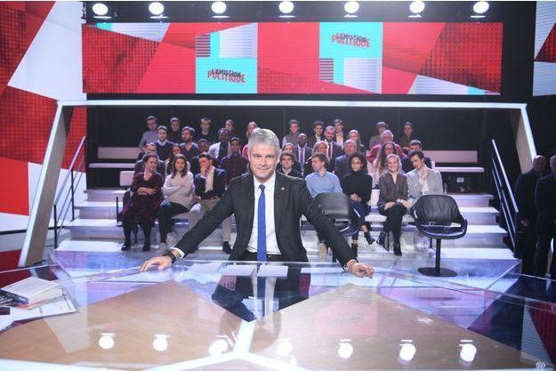"""Laurent Wauquiez jeudi soir sur le plateau de """"L'Emission politique"""" sur France 2."""