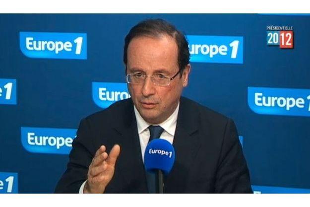 François Hollande, mercredi sur Europe 1.