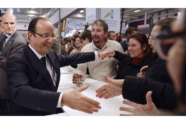 François Hollande au salon de l'Agriculture.