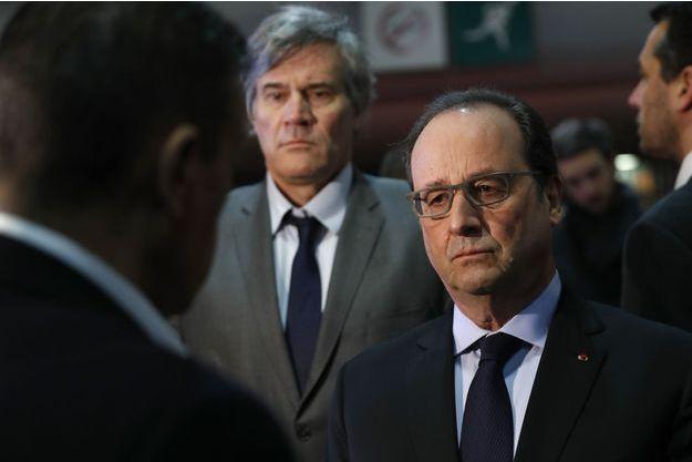 François Hollande au salon de l'Agriculture, samedi 27 février 2016.