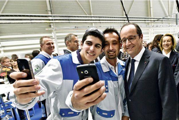 Le 24 novembre, lors de l'inauguration de l'usine Safran-Albany à Commercy, dans la Meuse.