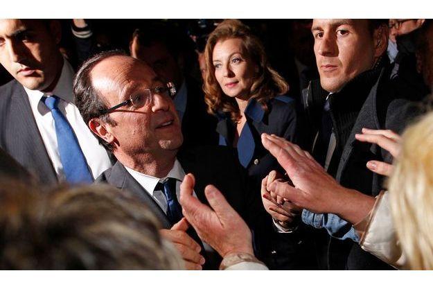 François Hollande à Tulle, dimanche soir.