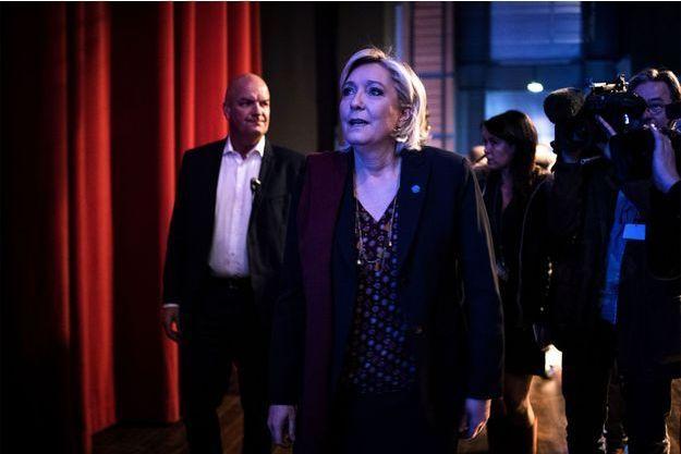 Marine Le Pen ce samedi à Lyon.