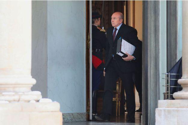 Gérard Collomb à l'Elysée à l'issue du conseil des ministres, jeudi.