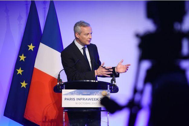 Le ministre de l'Economie, Bruno Le Maire, à Paris, lundi.