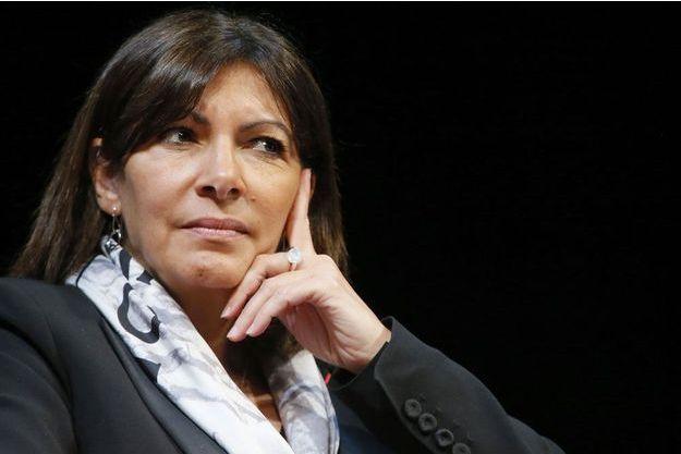 Anne Hidalgo, à la mairie de Paris, le 12 février 2015.