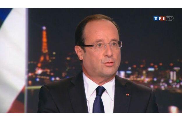 François Hollande sur TF1 dimanche soir.