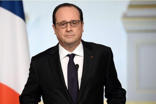 François Hollande lors de son allocution, mercredi.
