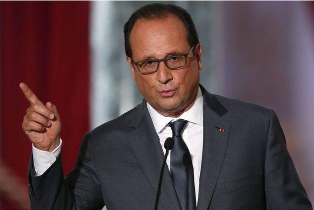 François Hollande lundi durant sa conférence de presse.