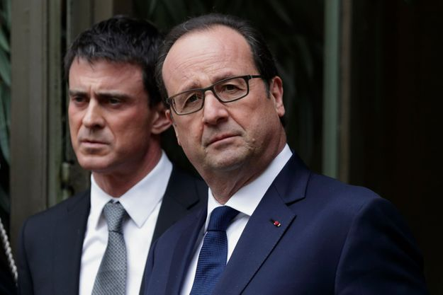Manuel Valls et François Hollande le 1er avril dernier.