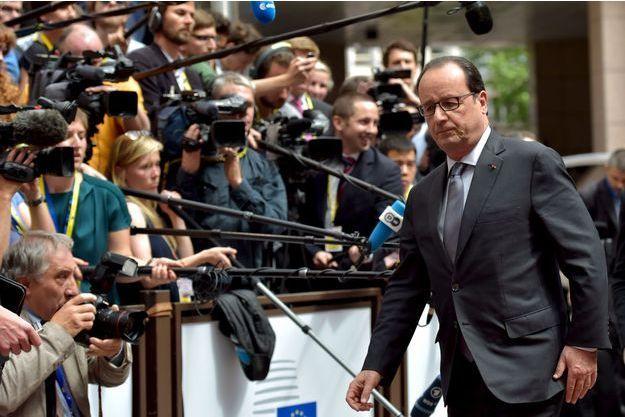 François Hollande à Bruxelles jeudi.