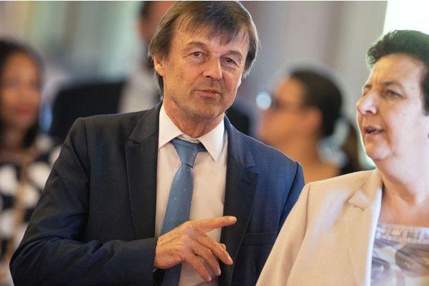 Nicolas Hulot et Frédérique Vidal, en avril dernier au Sénat.