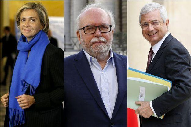 Valérie Pécresse, candidate des Républicains, Wallerand de Saint-Just, candidat du FN et Claude Bartolone, candidat PS.