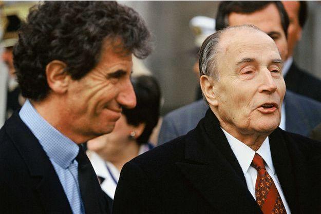 Jack Lang et François Mitterrand, photographiés en 1992.