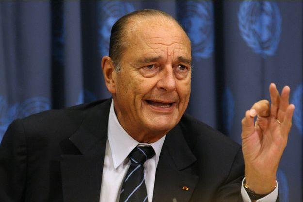 Jacques Chirac à l'assemblée générale des Nations unies, en septembre 2006.