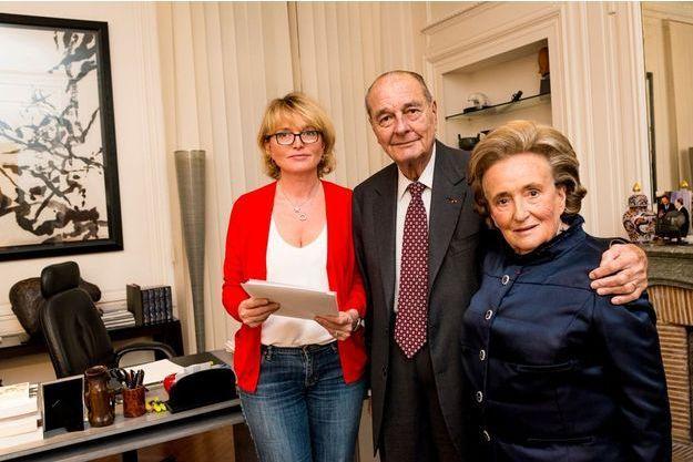 Claude, Jacques et Bernadette Chirac en novembre 2013.