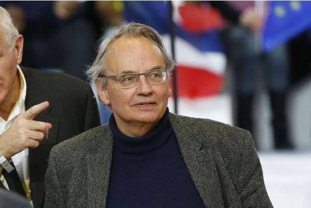 Jean-Louis Bourlanges au meeting d'Emmanuel Macron au Paris Event Center de la Villette, le 1er mai 2017.