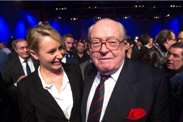 Marion Maréchal-Le Pen et Jean-Marie Le Pen en 2013.