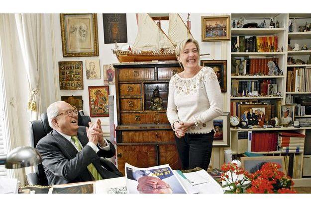 Jean-Marie Le Pen et sa fille Marine