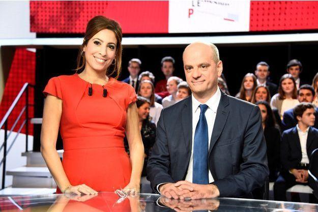 Jean-Michel Blanquer sur le plateau de l'Emission politique sur France 2