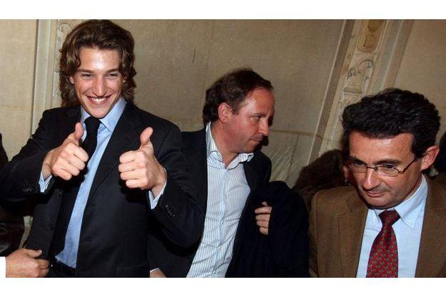 Entre Jean Sarkozy et Jean-Christophe Fromantin, à droite, (ici en 2008), le temps des congratulations est loin.