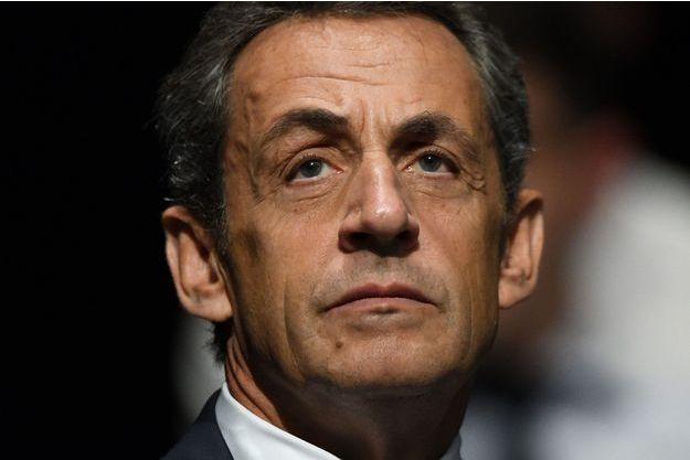 Nicolas Sarkozy aux Sables-d'Olonne, samedi.