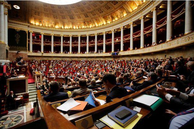 L'Assemblée nationale mardi après midi lors des Questions au gouvernement.