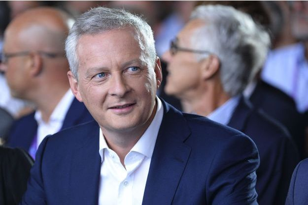 Bruno Le Maire à l'université d'été du Medef, mercredi, à Jouy-en-Josas.