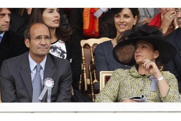 Eric Woerth et son épouse, Florence, au Prix de l'Arc de Triomphe en octobre 2009.