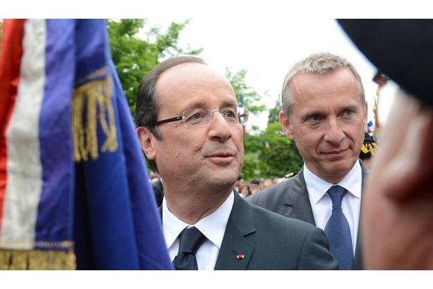 François Hollande et Bernard Combes, le maire de Tulle.