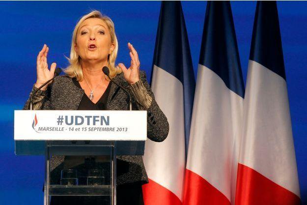 Marine Le Pen à l'université d'été du FN
