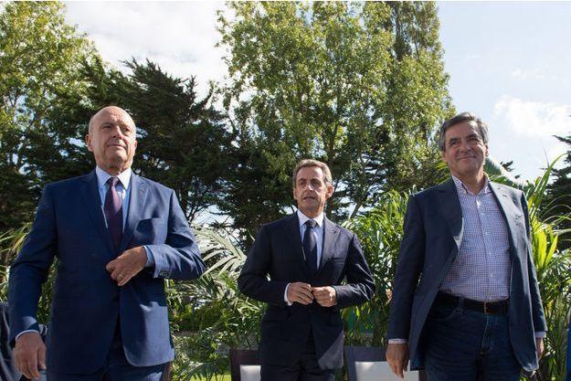 Alain Juppé, Nicolas Sarkozy et François Fillon à La Baule en septembre 2015.