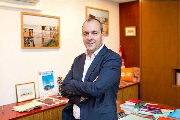 Laurent Berger dans son bureau au siège de la CFDT à Paris, le 10 juillet 2017.