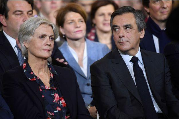 Penelope et François Fillon, le 29 janvier dernier, à Paris.