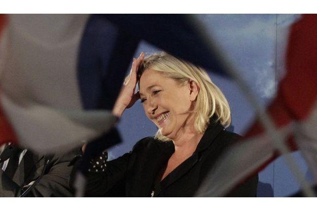 Marine le Pen à Hénin-Baumont en juin dernier/