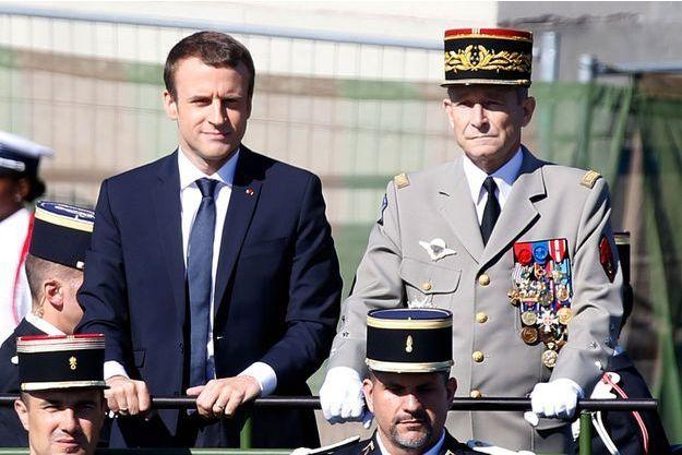 Emmanuel Macron et Pierre de Villiers le 14 juillet dernier.