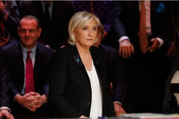 Marine Le Pen, lundi soir lors du débat présidentiel de TF1.