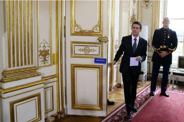 Manuel Valls lundi 8 février.